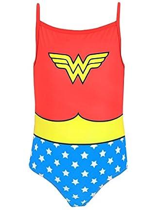 Wonder Woman DC Comics Bañador para Niñas Multicolor 7-8 años