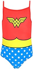 Wonder Woman DC Comics Bañador para niña 7-8 Años