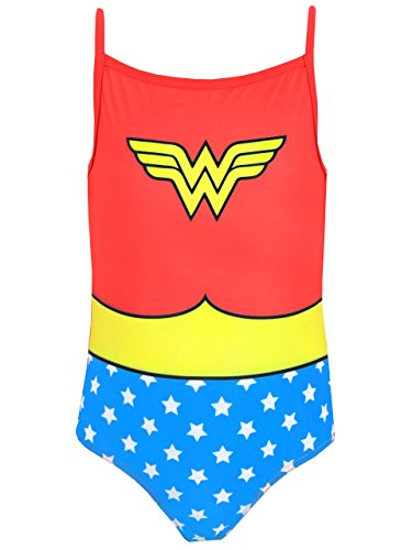 DC Comics Wonder Woman - Bañador para niña - Wonder Woman - 9 - 10 Años