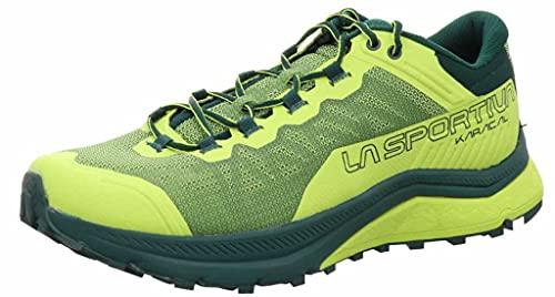 La Sportiva Karacal, Zapatillas de Trail Running Hombre, Neon/Jungle, 45 EU