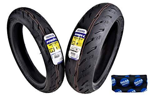 Michelin Pilot Power 5 Radial Sport Bike Motorcycle Tire 120/70-17 190/50-17 (120/70ZR17 Front 190/50ZR17 Rear)