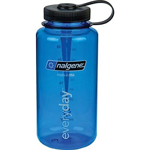 Nalgene Wide Mouth Water Bottle: 32oz Blue - 2 Count