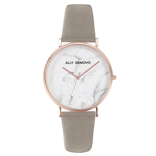 [アリーデノヴォ] ALLY DENOVO 腕時計 Carrara Marble 36mm レザー レディース ウォッチ
