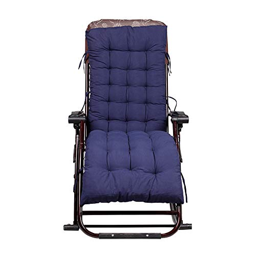 Yunhigh cojín del sillón para los Muebles al Aire Libre colchón del cojín del cojín del cojín del Asiento de los Muebles al Aire Libre colchón del Hamaca - Azul Marino
