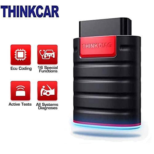 thinkcar ThinkDiag Bluetooth OBD2 Scanner, Lettore di codice per Auto, 16 funzioni di Servizio di ripristino, per iOS Android, Strumento di scansione diagnostica, codifica ECU, Auto-Vin