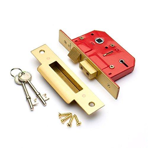Bulk Hardware bh06062Einsteckschloss Chubbschloss EB Teller 75mm (7,6cm)