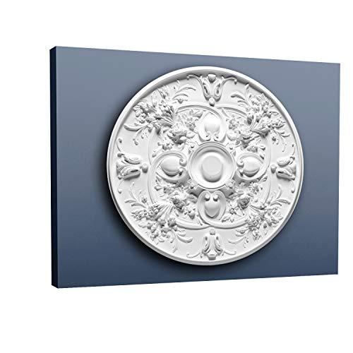 Rosetón Florón Elemento decorativo de estuco Orac Decor R24 LUXXUS para techo o pared Motivo clásico 79 cm diámetro