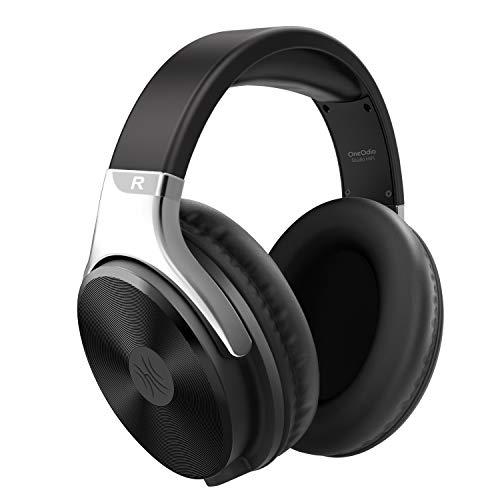 Kopfhörer Over Ear mit Kabel OneOdio Geschlossener Studio HiFi Kopfhörer mit Share Port für E-Drum Piano Gitarre Smartphones iPad Laptop Adapter-frei 3.5-6.35mm Buchse (Silber)