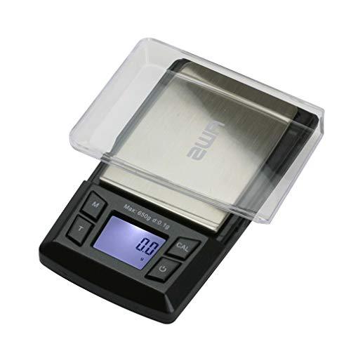 AMERICAN WEIGH SCALES Aero Series Digital Pocket Weight Scale, Black, 650G (AERO-650)