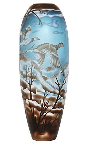 aubaho Vase Replika nach Galle Gallé Glasvase Glas Antik-Jugendstil-Stil Kopie a