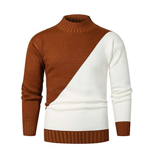 ZBBYMX Top blouse mannen de herfst winter casual dunne lange mouwen gebreide trui sweatercoats mannen casual warme slim fit top kleding