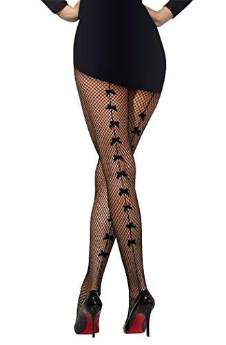 PrettyLove broek panty met strik effect (luipaard, rood)