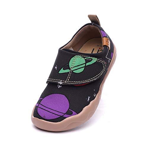 UIN Kleinkind Baby Little Kid Sneaker Universum Gemalte Kunst Leinwand Verstellbarer Riemen Lässige Mode Schuhe 26