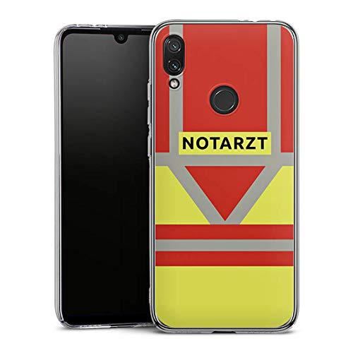 DeinDesign Hard Case kompatibel mit Xiaomi Redmi Note 7 Schutzhülle transparent Smartphone Backcover Beruf Notarzt Uniform