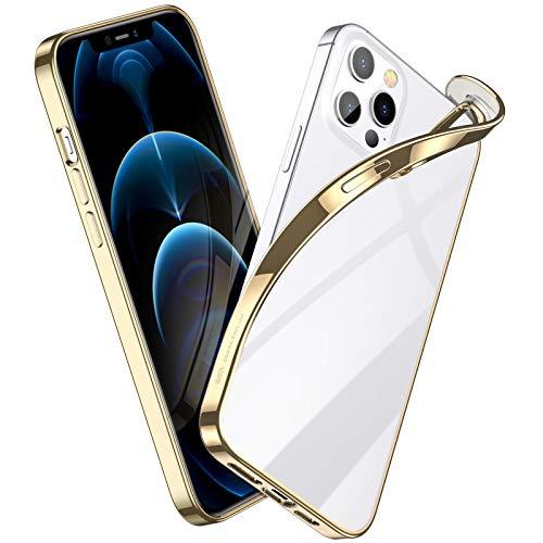 ESR Cover Compatibile con iPhone 6.7 Pollice 12 PRO Max, Serie Project Zero Liquid Soft, Oro