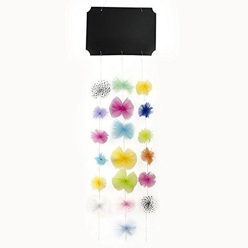 Partydeco - Kit de Pizarra y Guirnalda para Coche de Novios, Multicolor, 45 x 30 cm / 130 cm