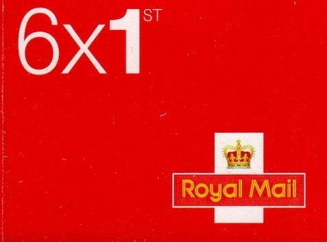 Book of 6 x 1st Class Royal Mail Postage Stamps (Design May Vary)