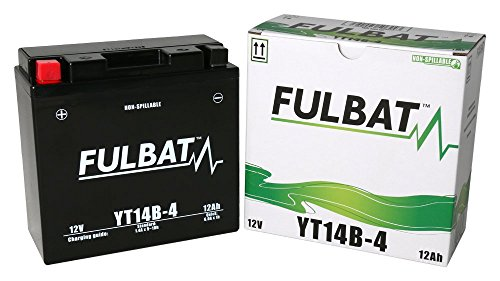 Batería FULBAT SLA YT14B-4 12V 12Ah 210A Largo: 150 x Ancho: 69 x Alto 145 (mm)