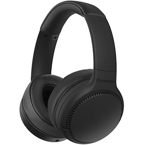 Panasonic RB-M300BE-K - Auriculares Inalámbricos Bluetooth (Control por Voz, XBS Potenciador de Bajos, Cable de 1.2 m, Duración de la Batería de hasta 50 h)- Negro