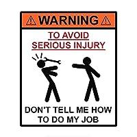 WSWZB 13 * 15.3cm警告私の仕事の車のステッカー面白いカラフルな自動車デカールを教えてください