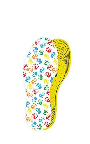 Hochwertige Arieto-Schuheinlage / Einlegesohle für Kinder von Kaps | Zurechtschneidbar | Atmungsaktiv | Verhindert Blasen & Schwielen | frischer Duft, 19-34