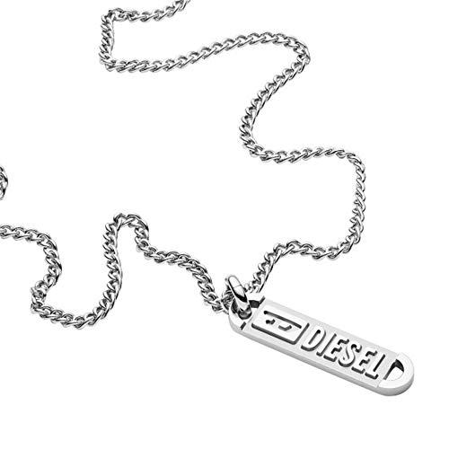Diesel Collar de hombre con colgante acero inoxidable DX1228040