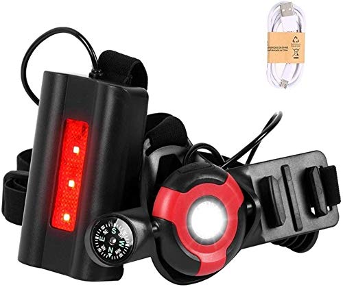 Water Resistant Adjustable Running Chest Light USB Rechargeable Sports Lamp 500 Lumen 3 Lighting Modes For Running Hiking for Jogging Hiking Walking