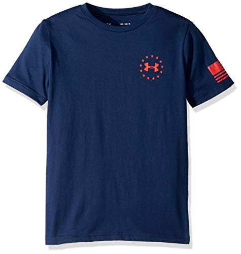 Under Armour Boys' Freedom Flag T-Shirt, Academy (408)/Red, Youth Large