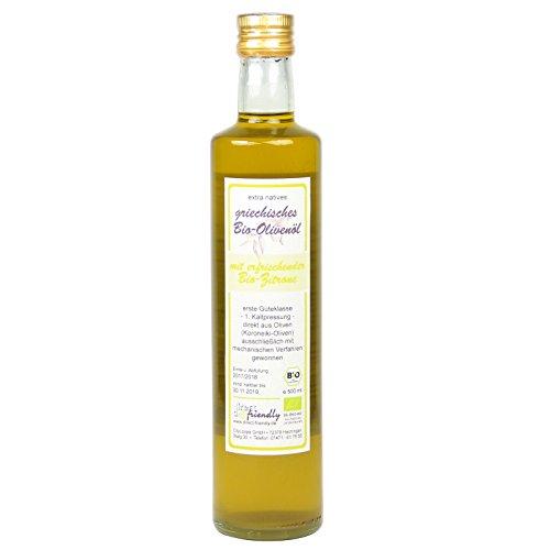 direct&friendly Extra natives Premium Bio Olivenöl kaltgepresst Zitrone, 500 ml