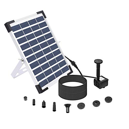 Lewisia 5W Solar Fountain Pump for Pool Koi Pond Bird Bath Garden Decoration...