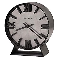 Howard Miller Indigo Mantel Clock 635-209 – Aged Silver Finish, Deep Bent Iron Metal Frame, Machined Steel Background, Antique Home Decor, Quartz Movement