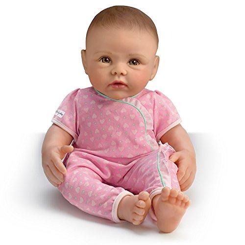 The Ashton - Drake Galleries Ashton Drake So Truly Mine Baby Girl Doll for Kids: Dark Brown Hair Hazel Eyes
