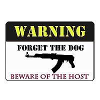 インドア/アウトドア8×12インチ(簡単に取り付け可能)の所有物銃用警告標識