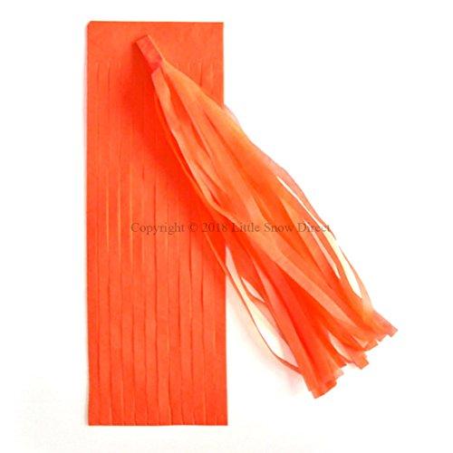 Little Snow Direct 5pcs Tassels Garland Tissue Paper Bunting Wedding Birthday Party Baby Shower - Orange