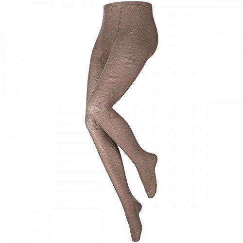 levée ® Damen Strumpfhose Grobstrick Zwischengröße Soft Touch, Größe:47/49, Farbe:Beige