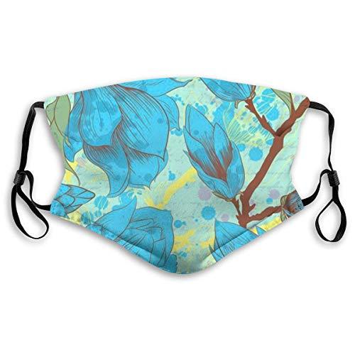 Winddichter Gesichtsschutz mit austauschbarem Filter, Aktivkohle, weiche Abdeckung, Blau