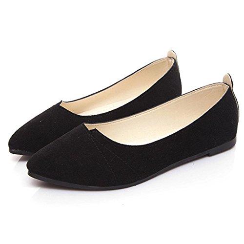 ¡Liquidación! Zapatillas de señora Covermason para mujer Zapatos cómodos para mujer Zapatos deportivos sin cordones para deslizamiento(40 EU, Negro)
