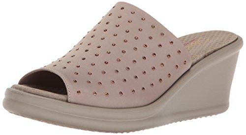 Skechers Cali Women's Rumblers-Silky Smooth Slide Sandal, taupe 578, 7.5 M US
