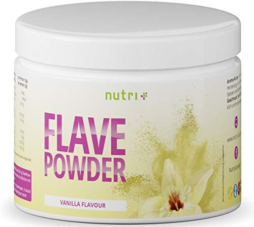 Flavour Powder Vanille - Veganes Geschmackspulver 270g - Aroma-Pulver lactosefrei für Lebensmittel, Wasser ohne Zucker uvm - sensationeller Geschmack - nur 7 Kalorien pro Portion