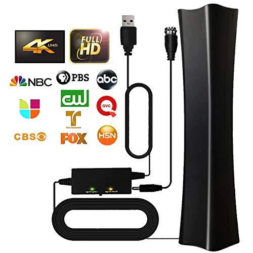 TV Antenna 2021 Indoor Digital Amplified HD TV Antenna, 180+ Miles Range Support 4K 1080p Fire TV Stick & All Older TV