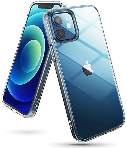 Ringke Fusion Kompatible mit iPhone 12 Hülle (6.1 Zoll) Ultra Dünn Schutzhülle Case mit Silikon Rahmen Ketten Loch - Transparent