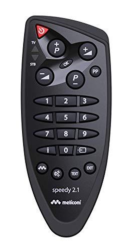 Meliconi Speedy telecomando universale 2 in 1 semplificato.Numero di tasti ridotto.Assistenza telefonica, Nero