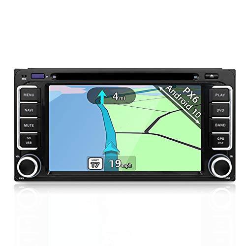 YUNTX Android 10 Autoradio Compatibile con Toyota RAV4/Corolla/4Runner/Tundra/Camry - GPS 2 Din - Telecamera Posteriore&MIC Gratuiti - Supporto DAB/Bluetooth 5.0/Controllo del volante/WiFi/Mirrorlink