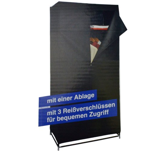 Unbekannt Armadio montabile in Nero 75 x 45 x 160 cm