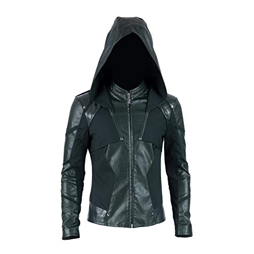 COMSHOW Green Arrow Season 8 Cosplay Costume Mens Arrow Costumes Oliver Queen Outfit for Halloween