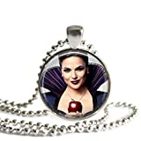 Regina Mills Once Upon A Time Evil Queen 1 Inch Silver Plated Pendant Necklace