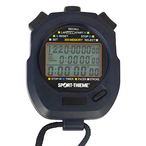 Sport-Thieme Stoppuhr Digital für Schwimmen, Rudern, Wassersport, Leichtathletik   Wasserdicht, Schlagfrequenz, Taktgeber, Countdown, 300 Speicherplätze, Stoßfest   82x62x23 mm   94 g