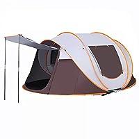 テント キャンプテント ワンポールテント 設営簡単 uvカット加工 防風防水 通気 3~4人用/5~8人用 (ドアのデザイン,245*150*115cm)