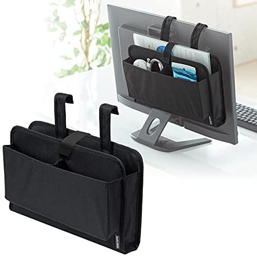 サンワダイレクト モニター裏 収納ポケット Lサイズ A4収納対応 200-STN055BK
