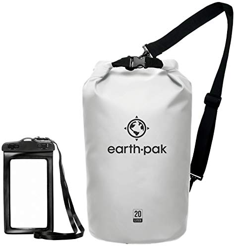 Earth Pak -Waterproof Dry Bag - Roll Top Dry Compression Sack Keeps Gear Dry for Kayaking, Beach, Rafting, Boating,...